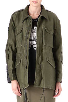 3.1 PHILLIP LIM Contrast-panel army jacket