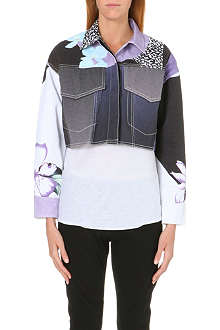 3.1 PHILLIP LIM Floral-detail denim jacket
