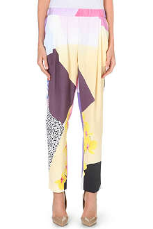 3.1 PHILLIP LIM Floral-print silk trousers