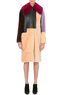 3.1 PHILLIP LIM Colour-blocked shearling coat