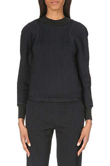 3.1 PHILLIP LIM Textured stretch-jersey sweatshirt
