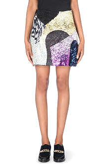 3.1 PHILLIP LIM Sequin and bead-embellished wool skirt
