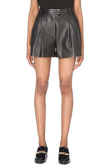 3.1 PHILLIP LIM Pleated leather shorts
