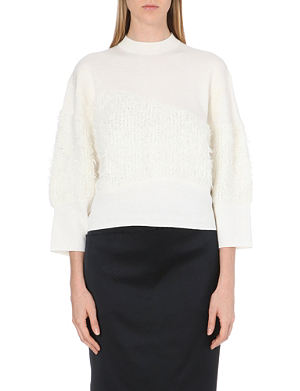 3.1 PHILLIP LIM Textured-panel wool jumper