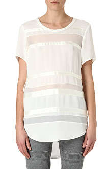 3.1 PHILLIP LIM Chiffon bands t-shirt