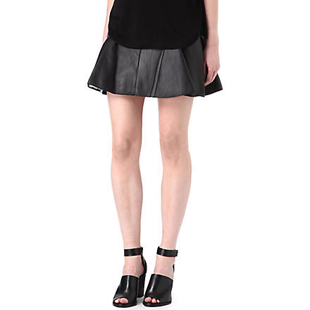 3.1 PHILLIP LIM Leather peplum skirt (Black