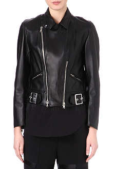 3.1 PHILLIP LIM Sculpted leather motorcycle jacket