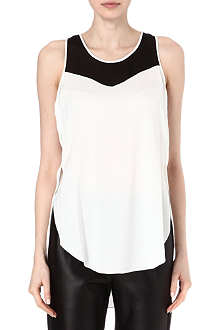 3.1 PHILLIP LIM Contrasting silk top