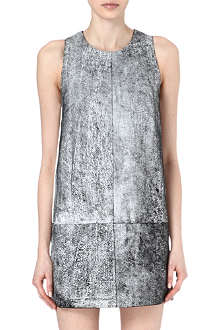 3.1 PHILLIP LIM Cracked leather dress