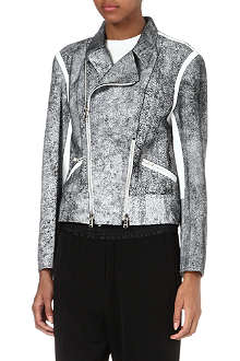 3.1 PHILLIP LIM Cracked leather biker jacket