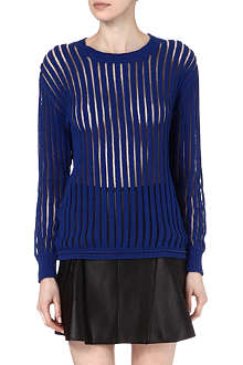 3.1 PHILLIP LIM Sheer striped jumper