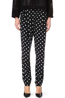 3.1 PHILLIP LIM Polka-dot pleated silk trousers