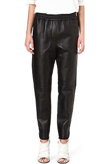 3.1 PHILLIP LIM Leather jogging bottoms