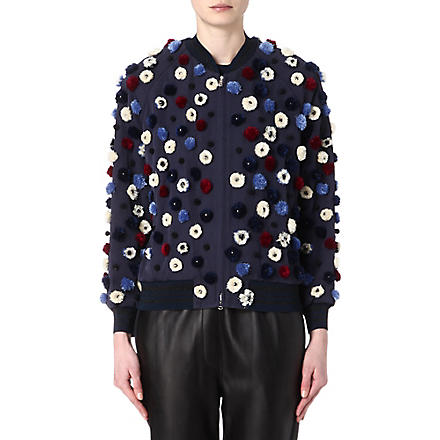 3.1 PHILLIP LIM Embellished bomber jacket (Navy