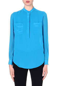 3.1 PHILLIP LIM Henley silk blouse
