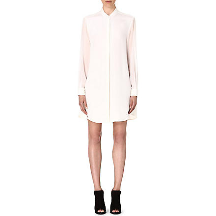 3.1 PHILLIP LIM Fold-back silk shirtdress (White