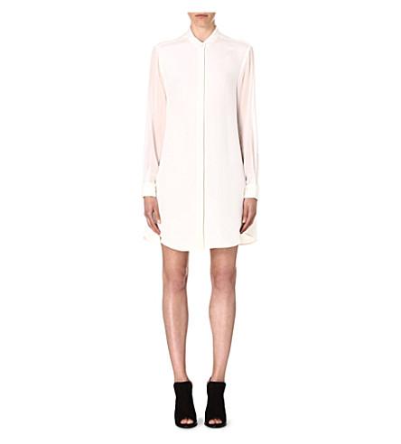 3.1 PHILLIP LIM Fold-back silk shirtdress (White