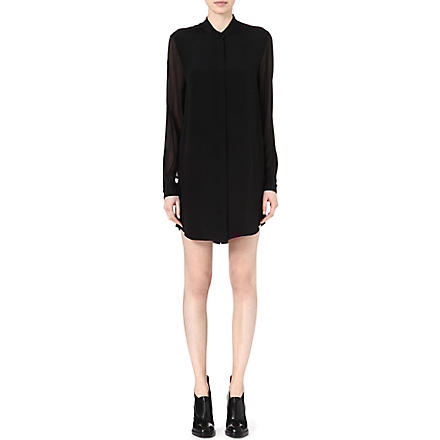 3.1 PHILLIP LIM Pleated-back silk dress (Blk