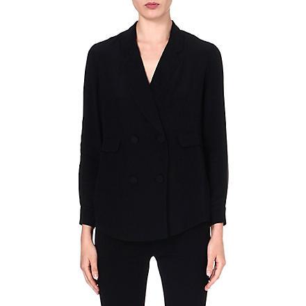 3.1 PHILLIP LIM Pyjama double-breasted silk blazer (Black