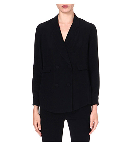 3.1 PHILLIP LIM Pyjama double-breasted silk blazer (Black