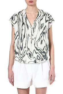 3.1 PHILLIP LIM Woodgrain print silk top
