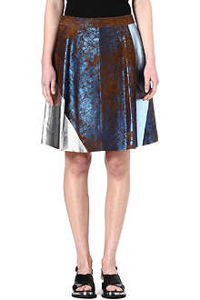 3.1 PHILLIP LIM Foiled block skirt
