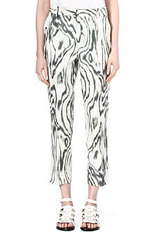 3.1 PHILLIP LIM Woodgrain-print trousers