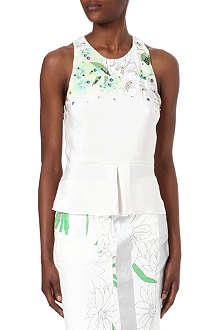 3.1 PHILLIP LIM Floral-print embroidered silk top
