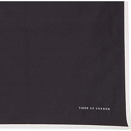 TIGER OF SWEDEN Lucera pocket square (Black