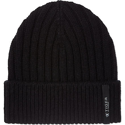 TIGER OF SWEDEN Cable beanie (Black
