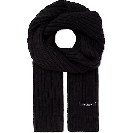 TIGER OF SWEDEN Senesi ribbed scarf (Grey