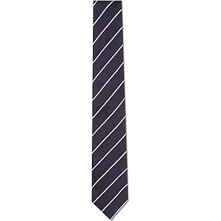 TIGER OF SWEDEN Pellacini diagonal striped tie (Navy