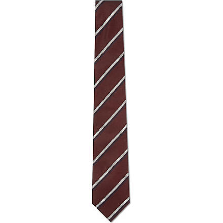 TIGER OF SWEDEN Ciro silk tie (Burgandy