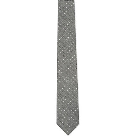 TIGER OF SWEDEN Platonov polka dot tie (Grey