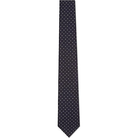 TIGER OF SWEDEN Platonov polka dot tie (Navy