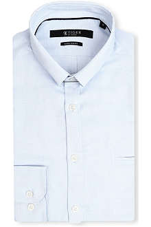 TIGER OF SWEDEN Denzel collar-bar cotton shirt