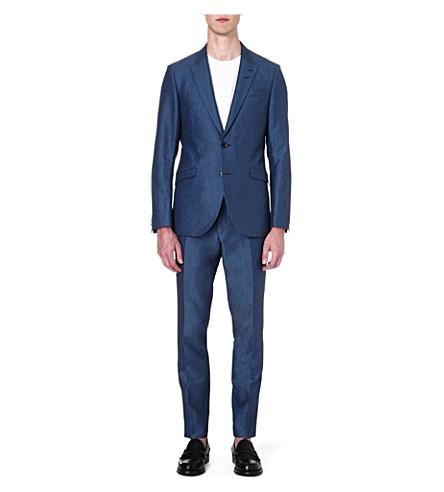 TIGER OF SWEDEN Evert peak-lapel wool suit (Navy