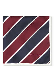 TIGER OF SWEDEN Florianous striped pocket square