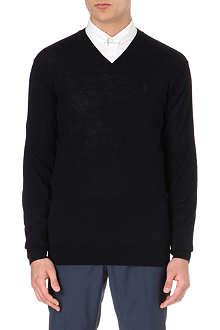 TIGER OF SWEDEN Harvard v-neck merino jumper