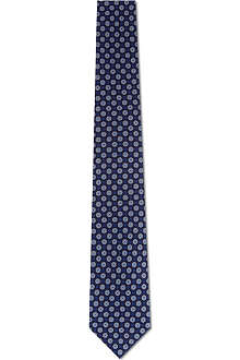TIGER OF SWEDEN Lusia circle print silk tie