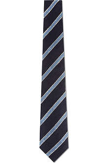 TIGER OF SWEDEN Textured stripe linen mix tie