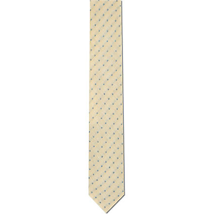 TIGER OF SWEDEN Dots linen-silk tie (Lemon