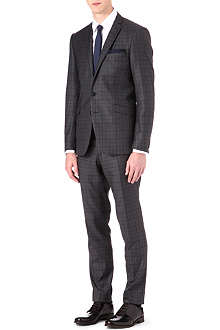 TIGER OF SWEDEN Checked wool two-piece suit