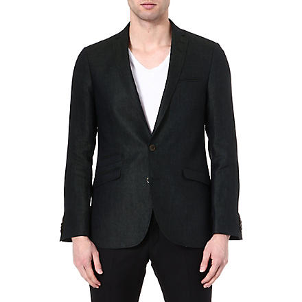 TIGER OF SWEDEN Nedvin slim-fit linen blazer (Green