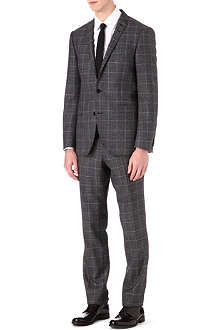 TIGER OF SWEDEN Checked wool-blend two-piece suit
