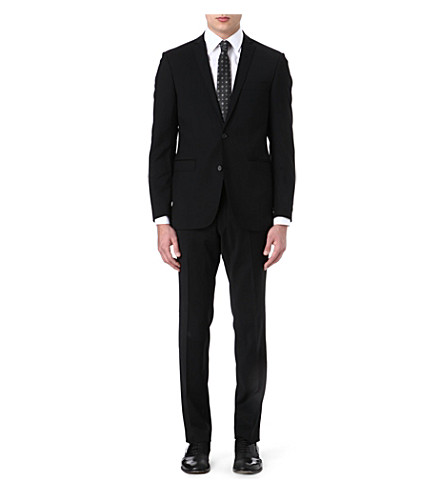 TIGER OF SWEDEN Norden wool suit (Black