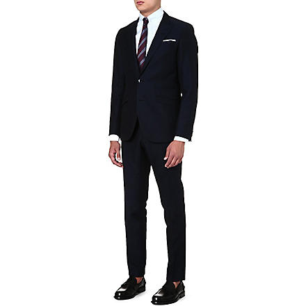 TIGER OF SWEDEN Ollie slim-fit linen and cotton suit (Navy