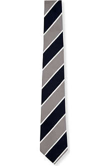 TIGER OF SWEDEN Striped silk tie 7cm