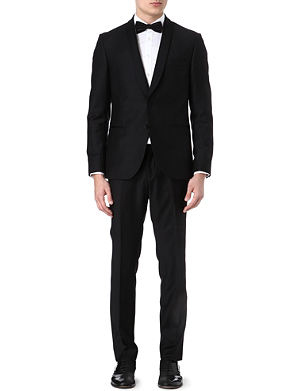TIGER OF SWEDEN Shawl-collar wool tuxedo suit