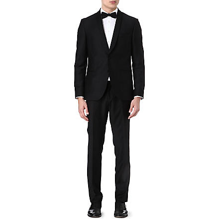 TIGER OF SWEDEN Shawl-collar wool tuxedo suit (Midnight